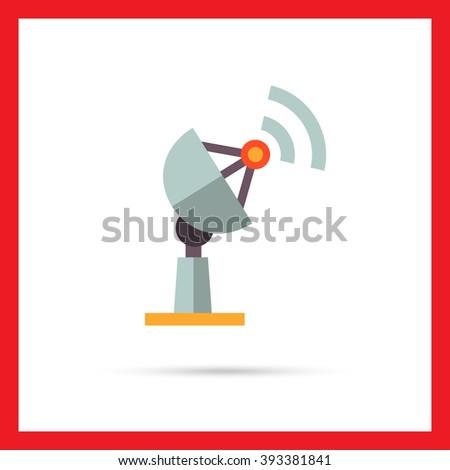 Receiver flat icon - stock vector