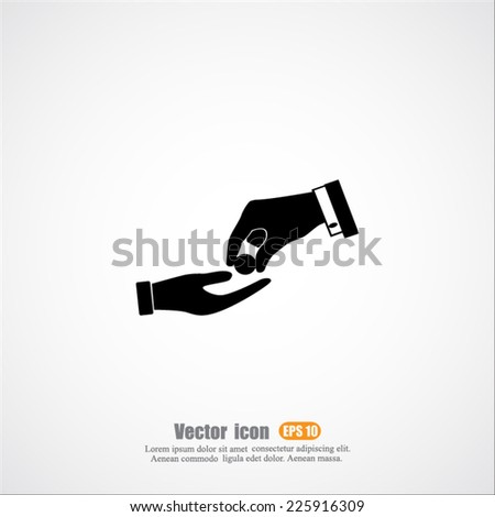 receiving money vector icon - stock vector