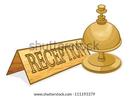 Reception bell - stock vector