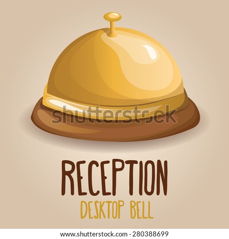 Reception Bell. Vector illustration - stock vector