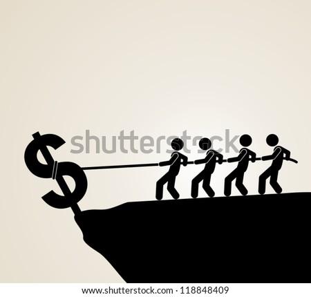 recession - stock vector