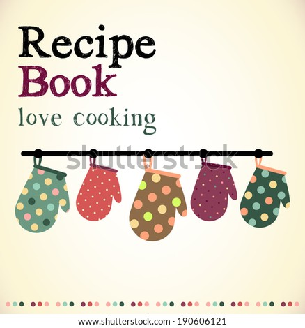 recipe book - stock vector