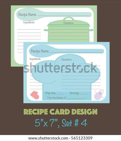 Recipe Cards Design Decorative Set