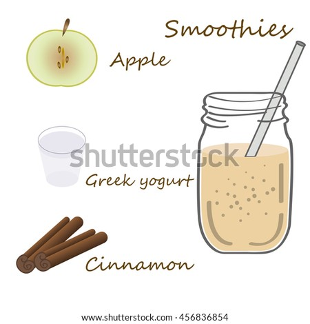 Recipe detox cocktail apple greek yogurt stock vector 456836854 recipe detox cocktail with apple greek yogurt cinnamon vector illustration for greeting cards m4hsunfo Choice Image