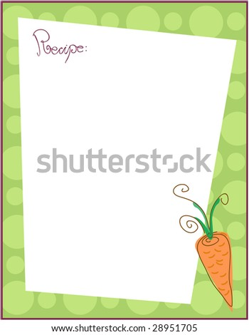 Recipe Border Stock Images, Royalty-Free Images & Vectors ...