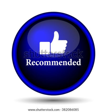 Recommended icon. Internet button on white background. EPS10 vector - stock vector