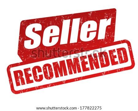 Recommended Seller grunge rubber stamp on white, vector illustration - stock vector