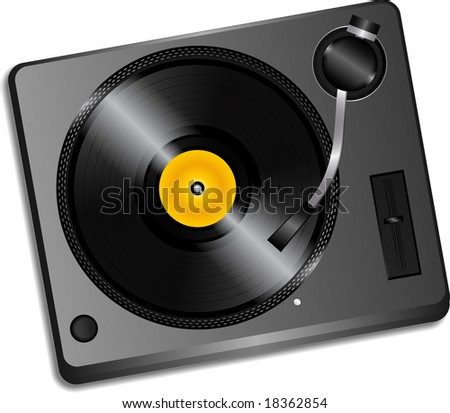 record deck vector illustration