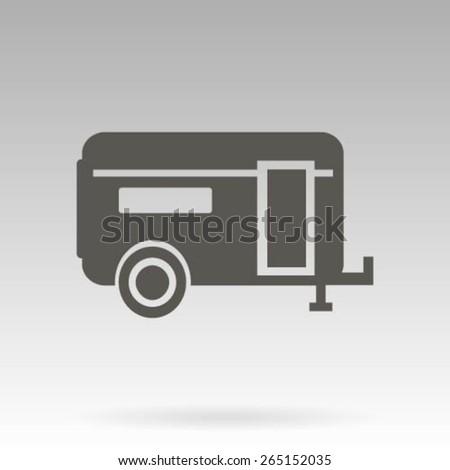 Recreation Vehicle Icon - stock vector