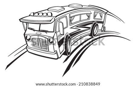 Recreational vehicle - stock vector
