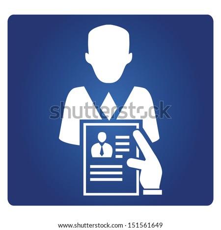 recruitment and job interview symbol - stock vector
