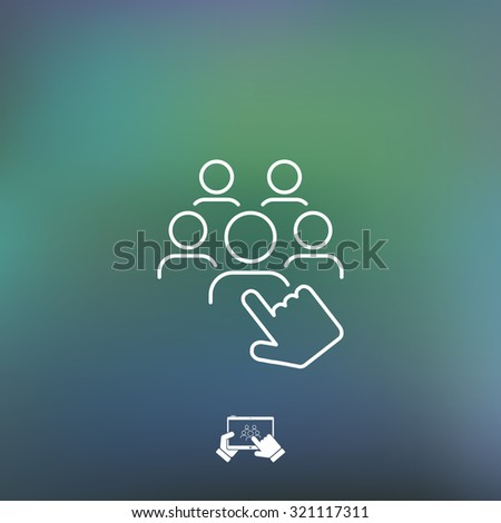 Recruitment icon - stock vector