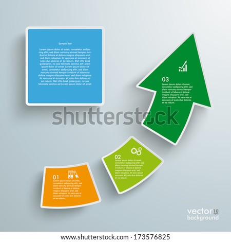 Rectangle and arrows on the grey background. Eps 10 vector file. - stock vector