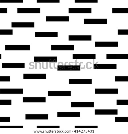 Rectangle black chaotic seamless pattern. Fashion graphic background design. Modern stylish abstract texture Monochrome template for prints, textiles, wrapping, wallpaper, website  VECTOR illustration - stock vector