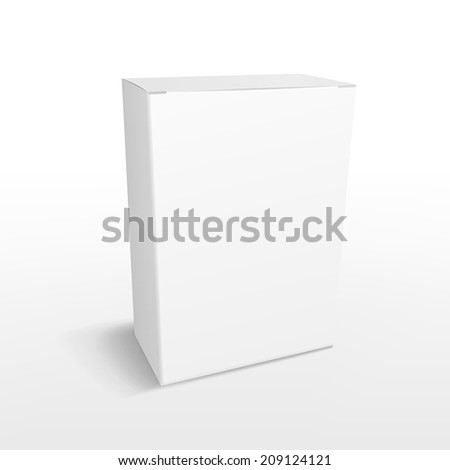 rectangle blank box isolated on white background - stock vector