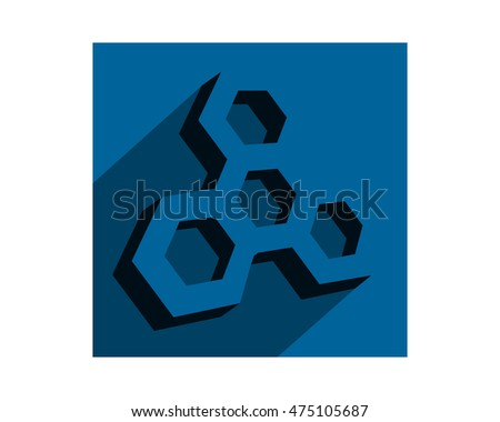 Rectangle Blue Bee Hive Hexagon Shape Stock Vector 475105687