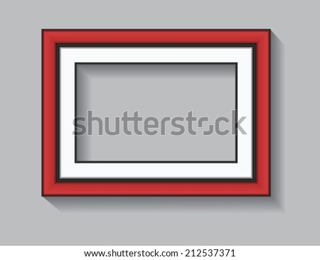Rectangle Frame, red and black - stock vector