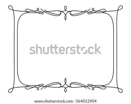 Rectangle Frame Simple Ornament Decorative Stock Vector 2018 364012904