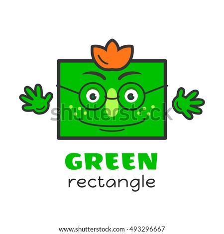 Rectangle Geometric Shape Vector Illustration Kids Stock ...  Rectangle Geome...