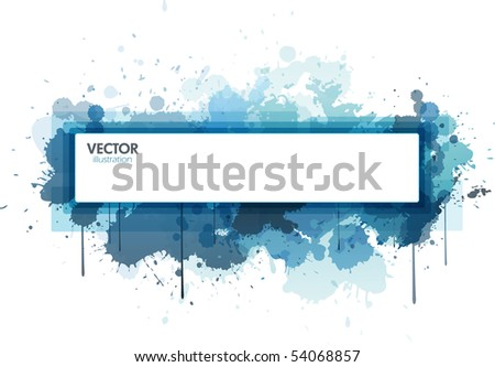 Rectangle paint splat design - stock vector