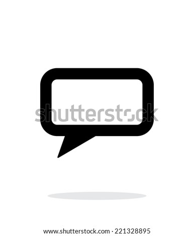 Rectangular bubble simple icon on white background. Vector illustration. - stock vector