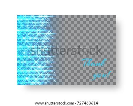 Rectangular Christmas Card Template Bright Blue Stock Vector HD - Christmas card template blue