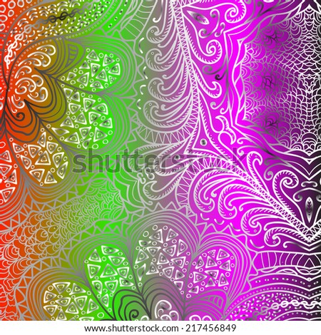Rectangular colorful ornament for design and background