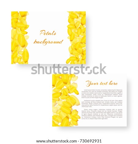 rectangular invitation card template flying tulip stock vector