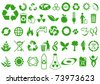 Recycle and ecology icons collection - stock photo