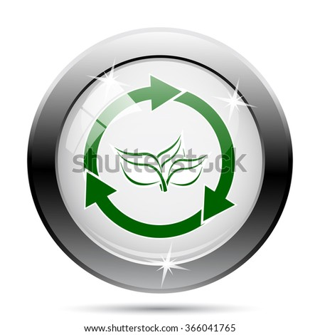 Recycle arrows icon. Internet button on white background. EPS10 vector.