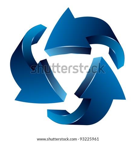 Recycle Arrows. Recycle symbol - stock vector