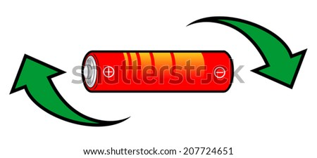 Recycle battery - stock vector