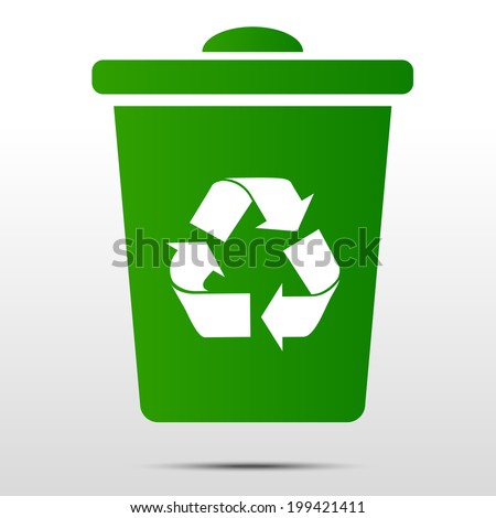 Recycle bin - stock vector