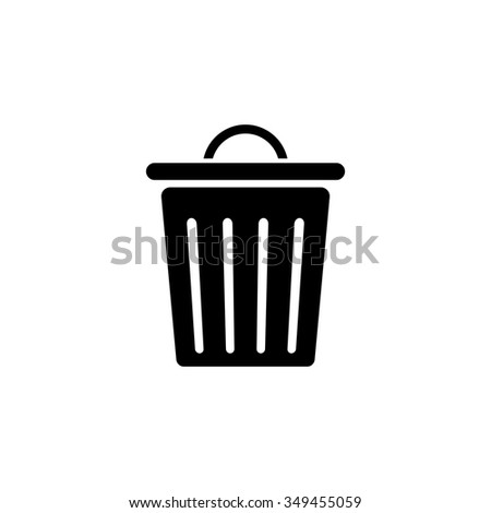 recycle bin  icon - stock vector