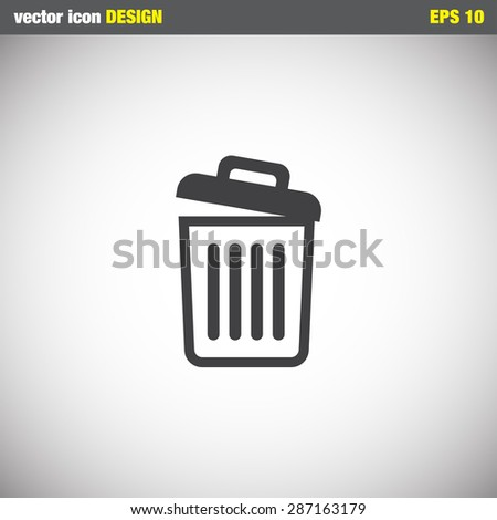 recycle bin icon empty - stock vector