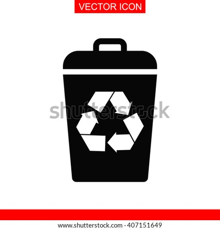 Recycle bin Icon. Recycle bin Vector. Recycle bin Icon Button. Recycle bin Picture. Recycle bin Image. Recycle bin Illustration. Recycle bin JPEG. Recycle bin Icon EPS. Reuse or reduce symbol. - stock vector