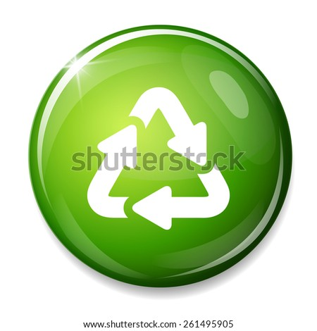 Recycle bin icon. Reuse / reduce symbol. - stock vector