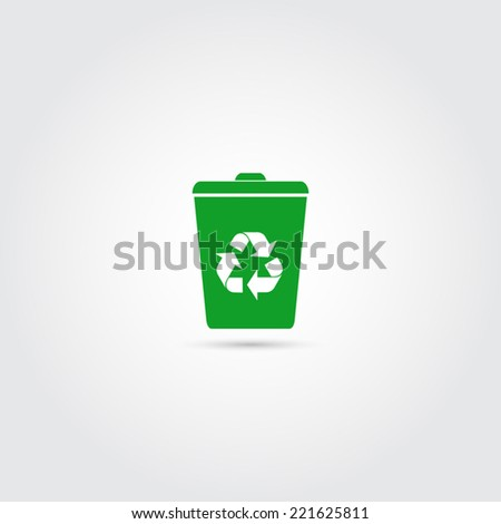 Recycle bin icon - Vector