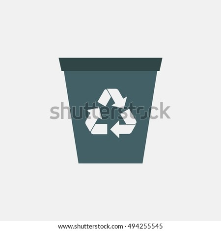 recycle bin icon vector isolated on white background