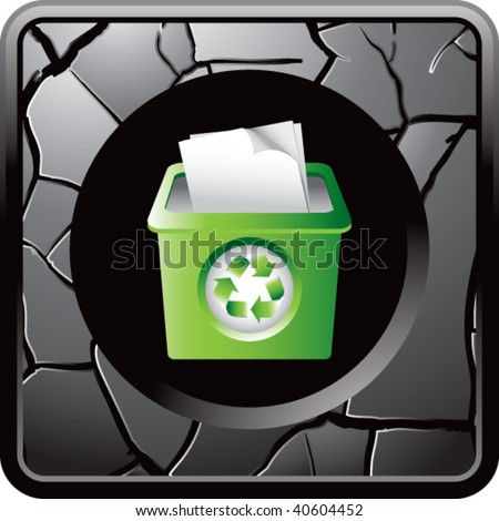 recycle bin on gray cracked web button
