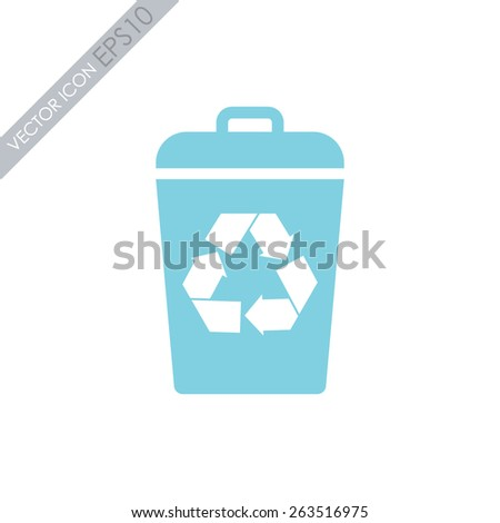 Recycle bin vector icon. Reuse or reduce symbol. - stock vector