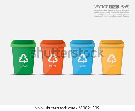 Recycle Bins,vector - stock vector