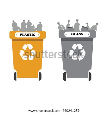 recycle bins with garbage separation