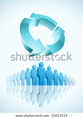 recycle community concept vector illustration. Easy editable. - stock vector