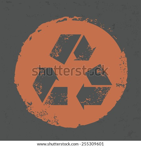 Recycle design on grunge background, grunge vector
