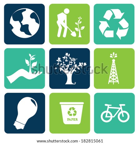 Recycle design over white background, vector illustration - stock vector