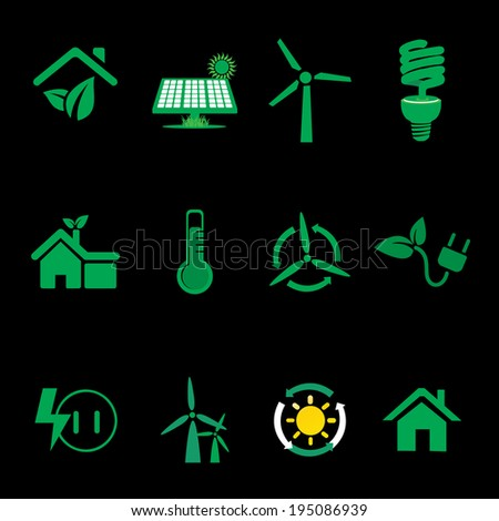 Recycle energy icon-vector - stock vector