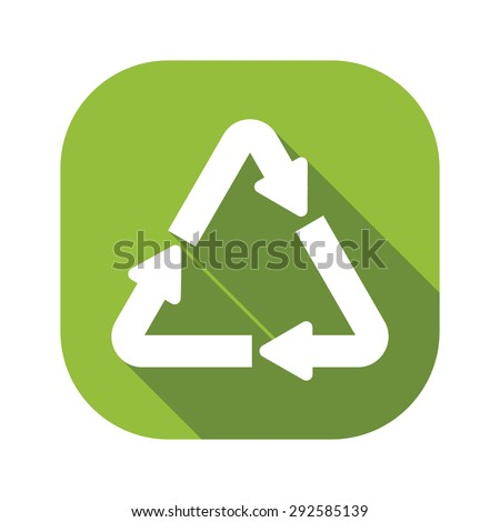 Recycle Flat Icon - stock vector