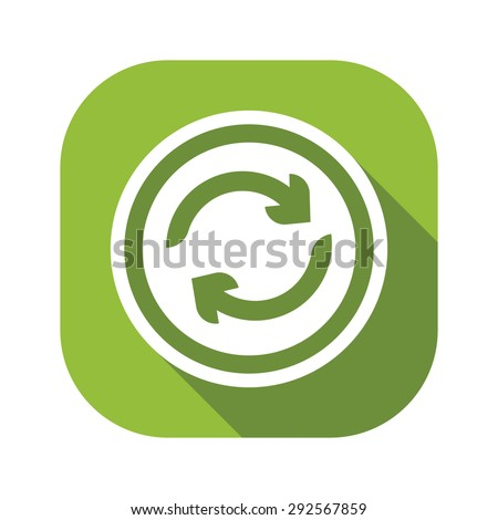 Recycle Green Flat Icon - stock vector