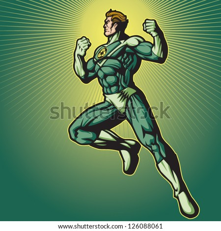 Recycle Hero 2 (no cape) - stock vector